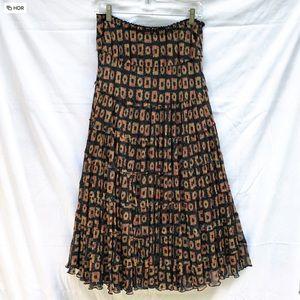 Jones New York Silk Chiffon Print Skirt